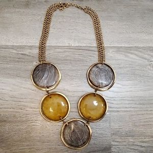 Medallion statement necklace